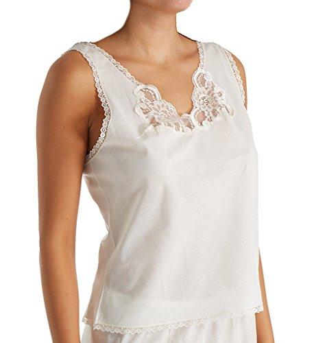 Shadowline Women's Cotton Batiste Camisole 4536 36 Ivory