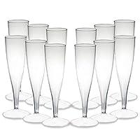 bicchieri da champagne usa e getta, confezione da 12, calici da champagne, calici da champagne, calici da champagne, calici da 100 ml, in plastica