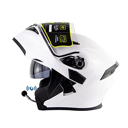 Smilfree Casco Modular Casco Motocicleta Casco Bluetooth Aprobado por ECE con Doble Parasol Antivaho Alta DefinicióN CáLido Resistente Al Viento para Hombres Y Mujeres Adultos S(55~56cm)