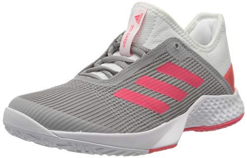 adidas Damen Adizero Club W Fitnessschuhe, Mehrfarbig (Ftwbla/Rojsho/Grasua 000), 38 2/3 EU