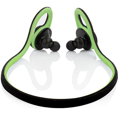 Yimiky Kabellose Kopfhörer, Bluetooth 4.0-Stereo-Kopfhörer mit Mikrofon Sweatproof Noise Cancelling für Sport/Fitness/Training(Grün)