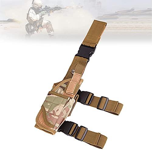 XIAOER Funda de pierna para muslos con suave transpirable, ajustable para pistola de pierna militar, diseño ergonómico, funda ajustable para airsoft para caza, juegos militares