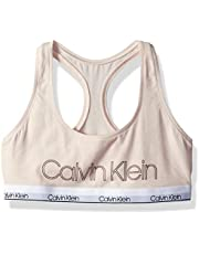 Calvin Klein Girls' Cotton Training Bra Bralette with Adjustable Straps, 2 Pack