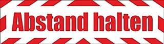 Indigos UG - magneetbord afstand houden met frame 45 x 12 cm reflecterend - magneetfolie voor auto/vrachtwagen/truck/bouwp...