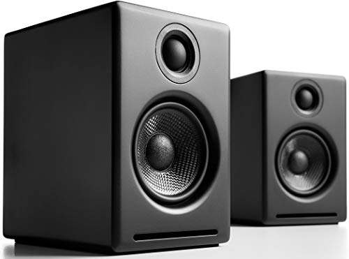 Audioengine A2 Plus 60W Powered Desktop Speakers, Built in 16Bit DAC and Analog Amplifier (Black)