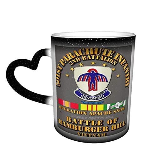 2nd Bn 501st Pir Hamburger Hill Personalizado Sensible al Calor Color Cambiante Taza Taza en el Cielo Magic Funny Art Taza de café Taza de cerámica