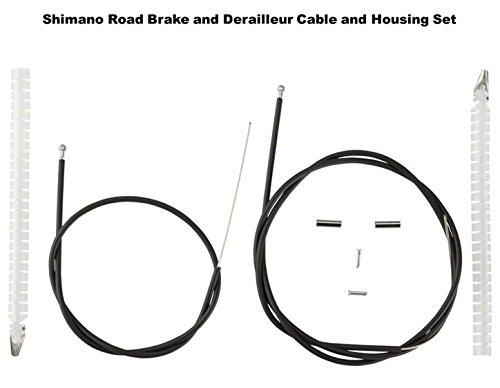 Black Shimano Road Brake Cable and Housing Set