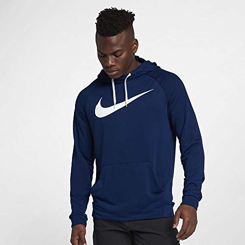 Nike Men's Hoodie Pull-Over Swoosh, Blue Void/White, X-Large