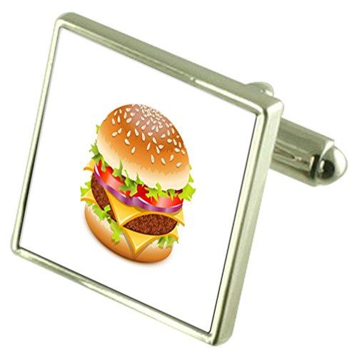 Select Gifts Fast Food Hamburger Manschettenknöpfe mit Tasche