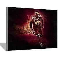 レブロンジェームズポスターアートプリント壁画アートウォールキャンバスバスケットボールファン写真リビングルーム家の装飾20x30cm(8x12inch)フレームレス