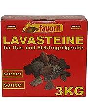 Favorit 3050 Lavastenen voor gas-/elektrische barbecue, 3 kg, praktische navulverpakking, 3 kg voor lavasteengrijs; hoogwaardige lavastenen voor het perfecte grillresultaat en het beste grillgenot.