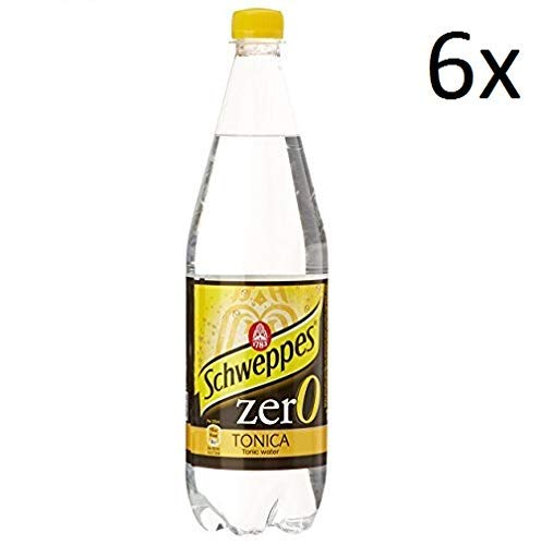 6x Schweppes Tonica Zero getönten ohne zucker PET 0,6 Lt erfrischend