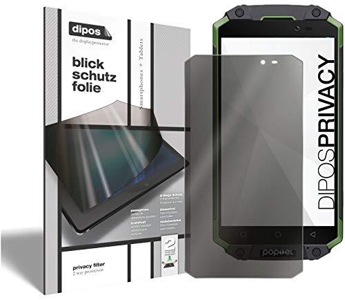 dipos I Protección en 2 sentidos de la Vista Compatible con Poptel P9000 MAX (Formato Vertical) I Protector de Pantalla Privacy