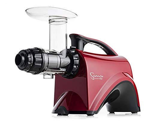Sana Juicer by Omega EUJ-606 in Rot-Metallic - Horizontaler Slow Juicer