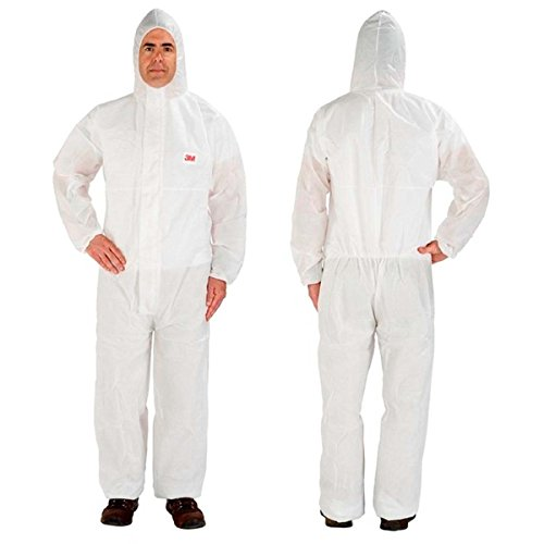 3M Disposable Protective Coverall Safety Work Wear 4515-XL-White 4515-XL-White