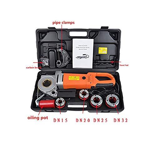 MXBAOHENG électrique Portable Tuyau Enfile-Aiguille avec 4 Dies Machine Filetage 1/5,1 cm à 1–1/10,2 cm