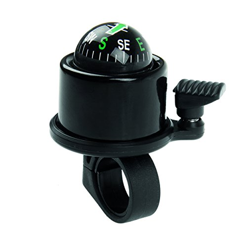 M-Wave Aluminum Compass Bicycle Bell, Black