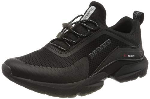 bugatti Herren 342848606900 Slip On Sneaker, Schwarz, 44 EU