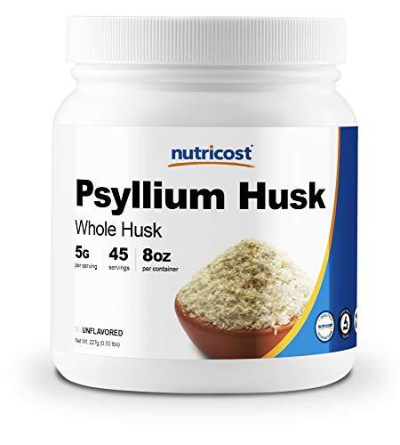Nutricost Psyllium Whole Husk Powder (Flakes) 8oz - Gluten Free & Non-GMO