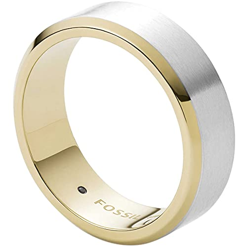 Fossil - , Rings Stainless Steel No Gemstones mens, Silver, - JF03726998