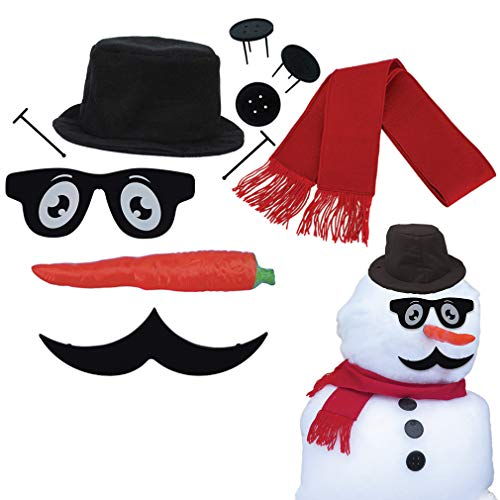 Product Image of the Evelots Perfect Snowman Decorating Kit-16 Pieces-Family Fun-Sturdy Prongs-Set/2