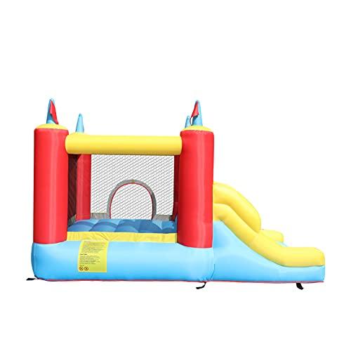 AIYIFU Castillo Hinchable Castillo Infantil con Tobogán para Niños Up Cama Elástica para Parque Patio Jardín Juego Niño de 3 a 10 Años,