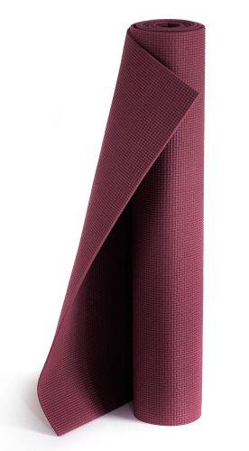 Yogistar Yogamatte Plus - rutschfest und extra lang - Bordeaux