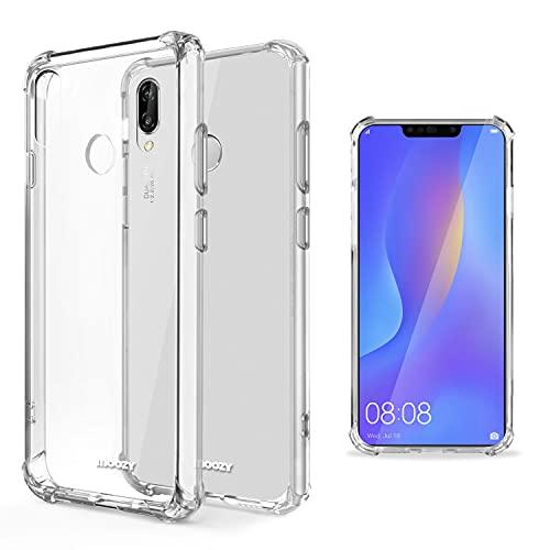 Moozy Funda Silicona Antigolpes para Huawei P Smart Plus 2018 - Transparente Crystal Clear TPU Case Cover Flexible