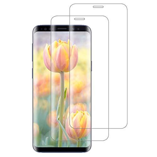 XSWO [2 Pièces Verre Trempé Galaxy S8, Vitre Protection Samsung S8 [3D Couverture Complète] [Pose Facile] [Anti Rayures] [sans Bulles] Film Protection d'écran Samsung Galaxy S8