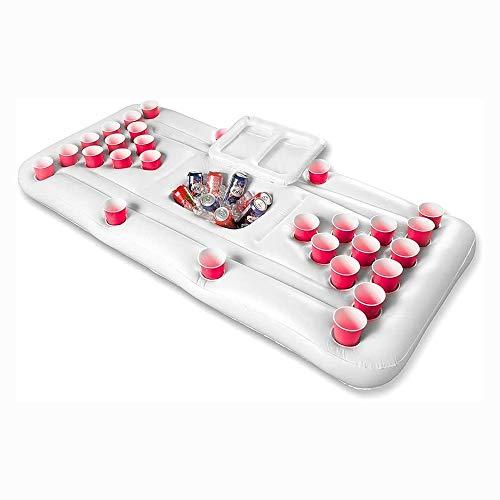 TYUIO Inflable Cerveza Tabla Mesa de Ping Pong, Inflable Colchón Inflable, Fiesta en la Piscina de Verano Entretenimiento Juego, Tumbona o Flotador de la Piscina 180 cm X 80 cm