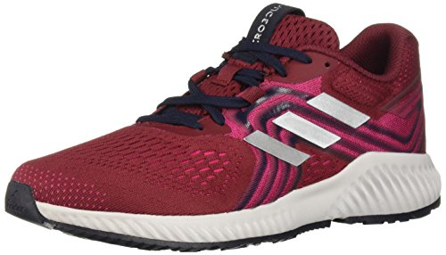 adidas Women's Aerobounce 2 Running Shoe, Noble Maroon/Silver Metallic/Real Magenta, 7 M US