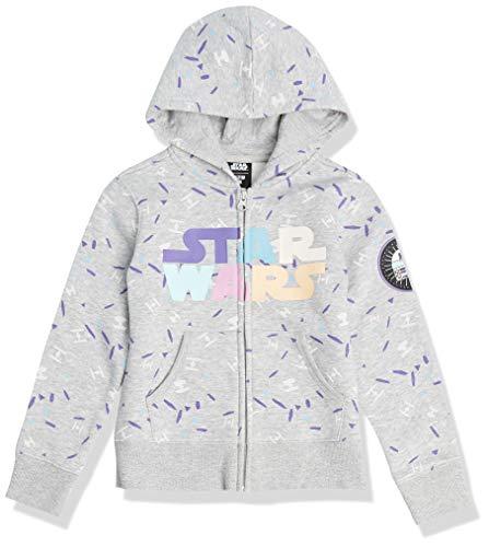 Spotted Zebra Disney Marvel Frozen Princess Fleece Zip-up Sweatshirt Fashion-Hoodies, Star Wars Multi Logo, 5 Jahre
