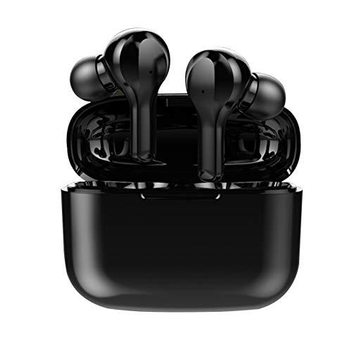Auriculares inalámbricos Bluetooth BT5.0 TWS para deportes de trabajo al aire libre (tamaño: tamaño libre; color: negro)