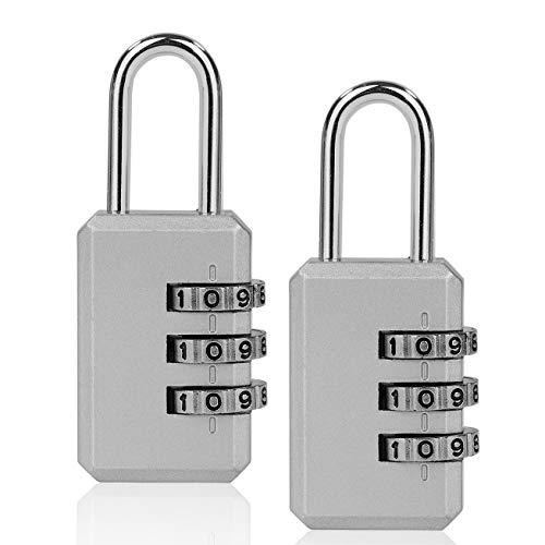 ISIYINER Candados Combinación,Candado de Seguridad Combinaciones de 4 Dígitos para Gimnasio Maleta Caja de Herramientas Gabinete Puerta Cobertizo Almacenamiento Equipaje[2PACK]