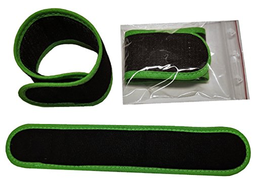 4 x Rutenklettband 25 cm x 4 cm weiches Material (SCHWARZ GRÜN) Premium Angeln Ruten Camping Garten Haushalt Rutenhalter
