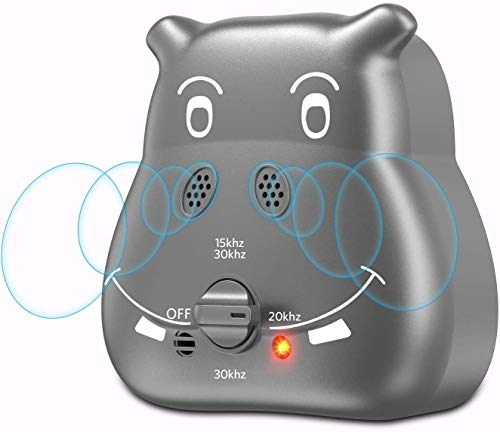 Tinzzi Bark Control Device, Anti Barking Device with 3 Adjustable Ultrasonic Volume Levels, Automatic Ultrasonic Dog Bark Deterrent for Small Medium Large Dog (Grey)