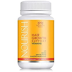 Nourish Hair Growth Vitamins – With Biotin and Powerful DHT Blockers
