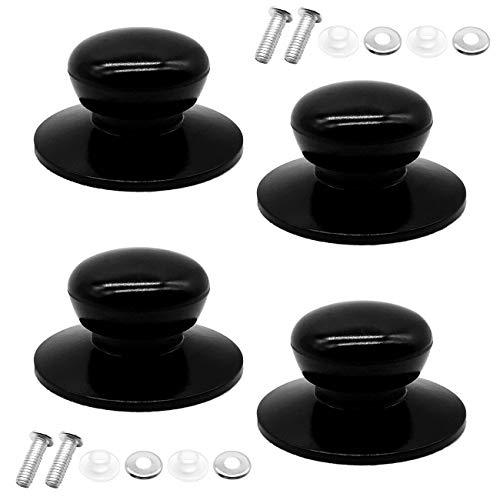 Paquet de 4 boutons de couvercle de pot avec boutons de rechange, ustensiles de cuisine universels couvercle de remplacement boutons couvercle de bouilloire bouilloire casserole en verre couvercle