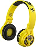 Pokémon Wireless Bluetooth Portable Kids Headphones with Microphone, Volume Reduced to Protect Hearing Rechargeable Battery, Adjustable Kids Headband for School Home or Travel