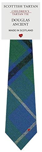 I Luv Ltd Garçon Tout Cravate en Laine Tissé et Fabriqué en Ecosse à Douglas Ancient Tartan