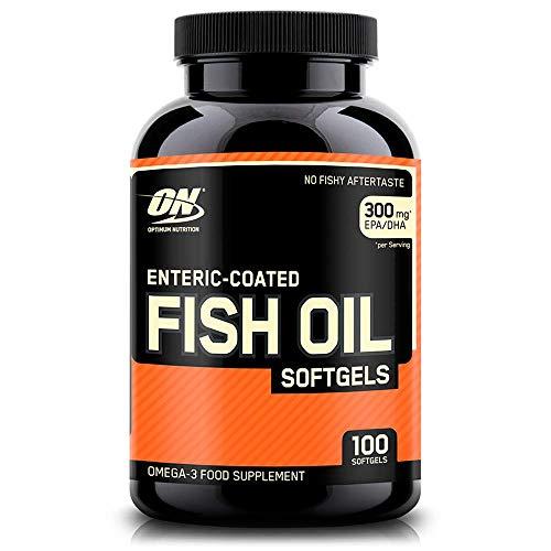 Optimum Nutrition Fish Oil, Aceite de Pescado, Omega 3, DHA, Sin Sabor, 100 Porciones, 100 Cápsulas