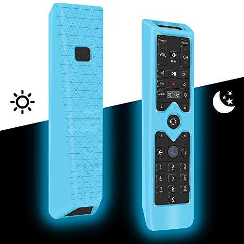 Silicone Protective Case for XFinity Comcast XR15 Voice Control Remote,Remote Case Holder Skin Sleeve for XFinity Remote Controller,[Thicken Layer]Shockproof Bumper Remote Battery Back Cover-Glowblue
