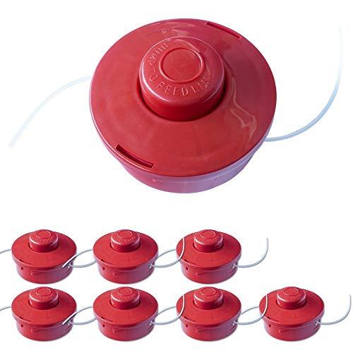 Nemaxx 7X FS2 Cabezal de Doble Hilo semiautomático - Cabezal de Corte de siega -Accesorios de Corte - Hilo de Nylon - Carrete para desbrozadora Gasolina - Rojo