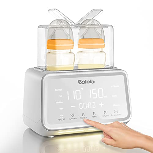 Baby Bottle Warmer | Bololo Bottle Warmer for breastmilk | 500W Stronger Power Fast Breast Milk Warmer| Baby Food Heater with Timer for Twins | 24H Temperature bontrol