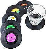Dr.JIEER 6 bevande vinile sottobicchieri ,sottobicchiere ,per dischi CD retrò