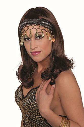 Jannes 33025 Tiara Ziegeunerin mit Münzen Bauchtänzerin Wahrsagerin Kopfschmuck Einheitsgröße Schwarz