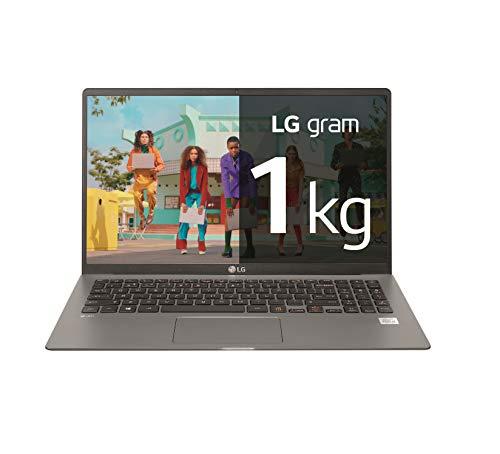 LG gram 15Z90N-V-AP72B - Ordenador portátil ultraligero de 15.6' FullHD IPS (Intel Core i7-1065G7, 8GB RAM, 256GB SSD, Windows 10 Pro) Plata - Teclado QWERTY Español