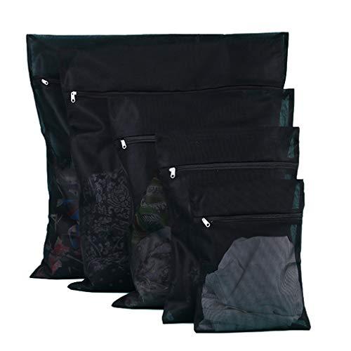 4 Satz Wäscherei-Waschbeutel/dauerhafte Reißverschluss-Netz-waschende Beutel für Waschmaschine Schwarzes Feines Ineinander Greifen (30 * 40/40 * 50/50 * 60/60 * 60 jeder)