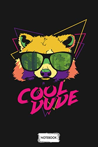 Raccoon With Sunglasses Art Psychedelic Cool Dude Notebook: Journal, Planner, Diary, Matte Finish Cover, 6x9 120 Pages, Lined College Ruled Paper