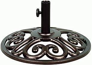 Treasure Garden 9' ft Push Button Tilt Umbrella (35lb Medici Base Bronze)